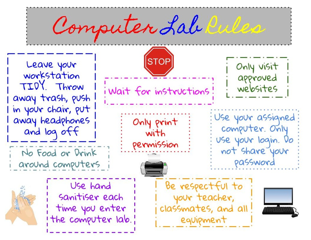 COMPUTER LAB RULES Picture